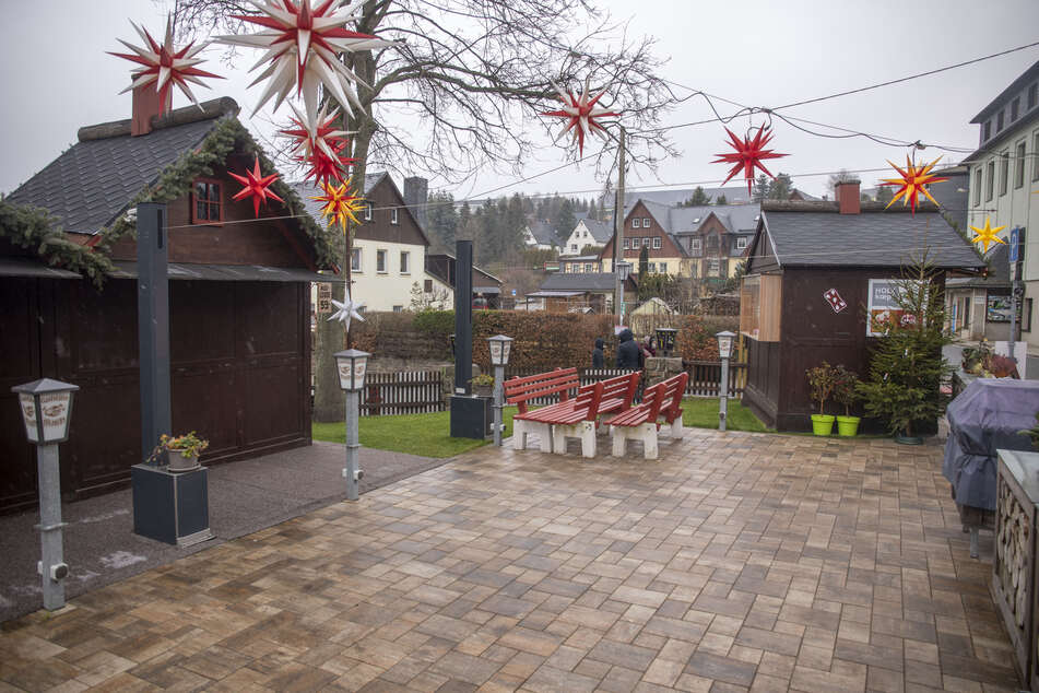 Lockdown in Seiffen: Das Weihnachtsdorf wirkt wie ausgestorben.