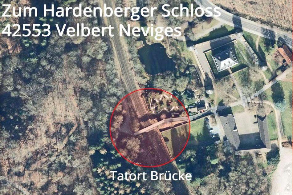 Die Karte zeigt den Tatort in Velbert-Neviges.
