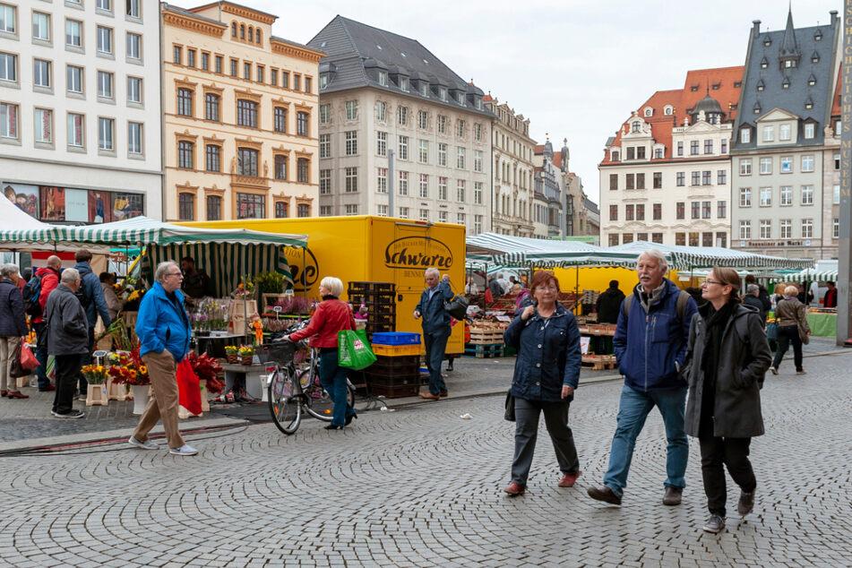 Leipzig will wieder mehr Leben in seine Innenstadt bringen, sobald dies möglich ist. Im Stadtrat wurden nun Pläne dafür beschlossen. (Symbolbild)