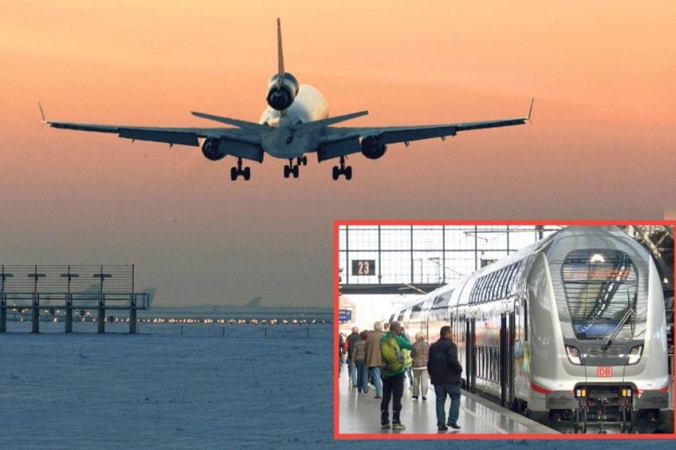 Sachsens größter Flughafen vom Bahnverkehr abgekoppelt