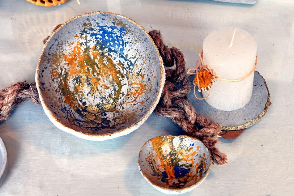 Ob Schale oder Kerzenständer - Dana kann aus Beton so ziemlich alles gießen.