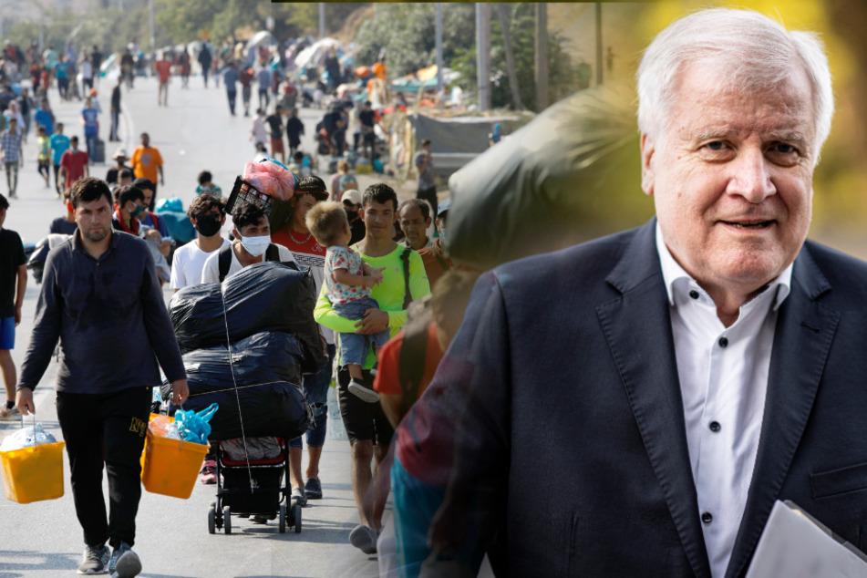 Horst Seehofer wehrt sich gegen die aufkommende Kritik um die Aufnahme von Flüchtlinge. (Bildmontage).