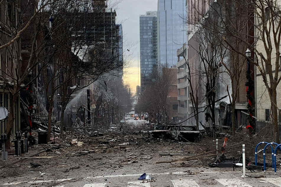 The powerful explosion left a trail of devastation in its wake, including three injured people.