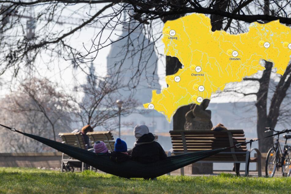 In Dresden nutzten zahlreiche Menschen bereits das schöne Wetter der vergangenen Tage aus.