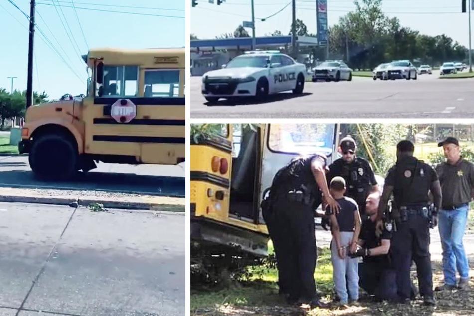 11-Jähriger klaut Schulbus, kracht gegen mehrere Fahrzeuge und einen Baum