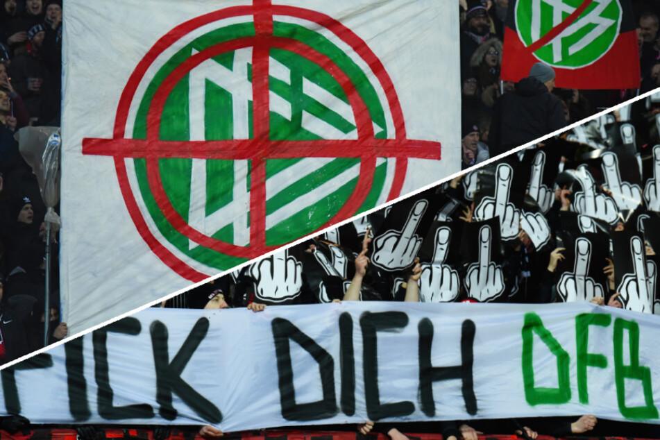 Fan-Protest gegen den DFB in Nürnberg,Fußball-Profis bedroht