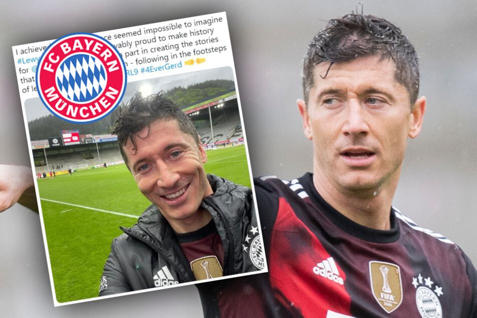 So schwärmt Bayern-Star Lewandowski nach seinem Rekord-Treffer