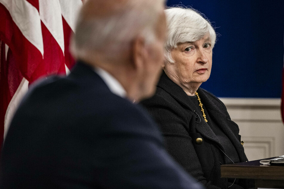 Treasury Secretary Janet Yellen joins President Biden to speak on the potential damage that could be done to the US economy if the government defaults on its debt.