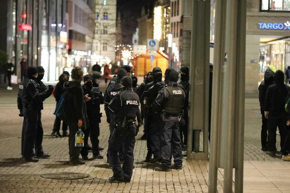 Die Polizei begleitete die Versammlungen.