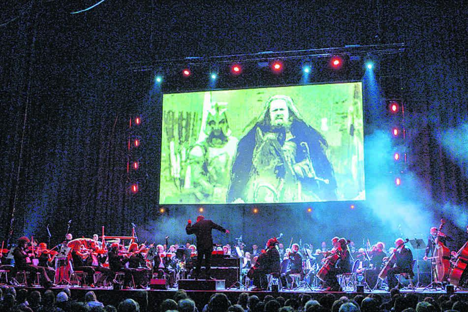 Bühnenaufnahme der Game-of-Thrones-Concert-Show.
