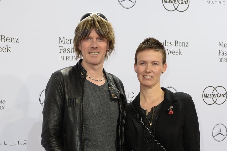 Sänger Mickie Krause (51) und seine Frau Ute während der Fashion Week 2016.