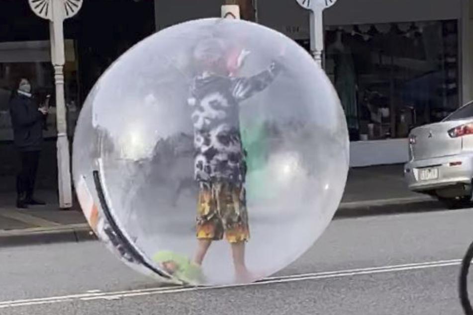 """""""Ich bin der Blasen-Mann"""", freute sich der Australier."""