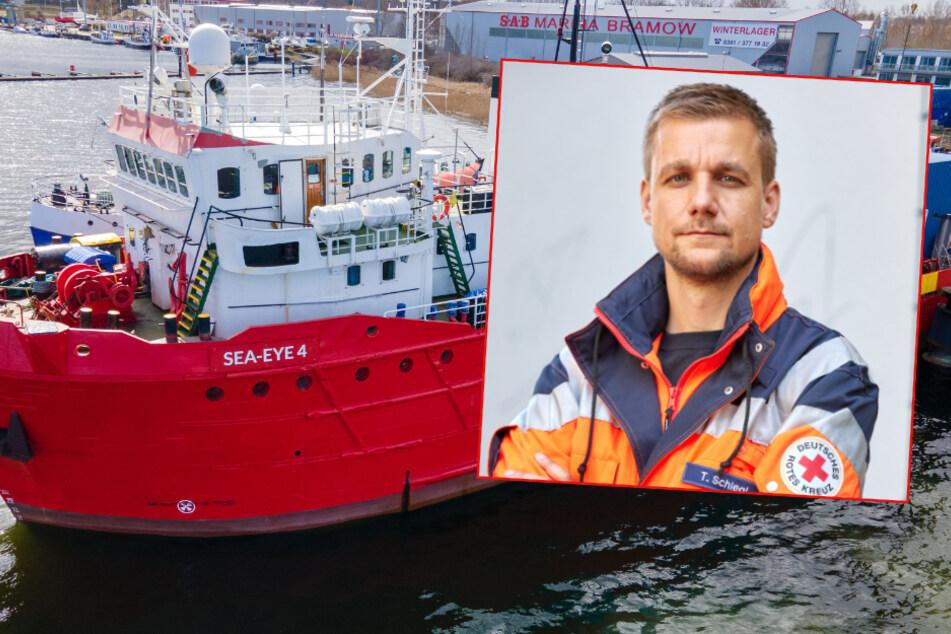 """Hamburg: Moderator Tobi Schlegl hilft an Bord der """"Sea-Eye 4"""" aus: """"Tausche RTW gegen Schiff"""""""
