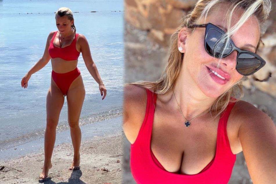 """Evelyn Burdecki: Evelyn Burdecki macht im Ibiza-Traumurlaub """"einen auf sexy"""""""