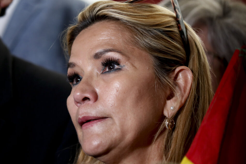 Jeanine Añez, damalige Senatorin und heutige Interimspräsidentin von Bolivien, trifft im Kongress ein.