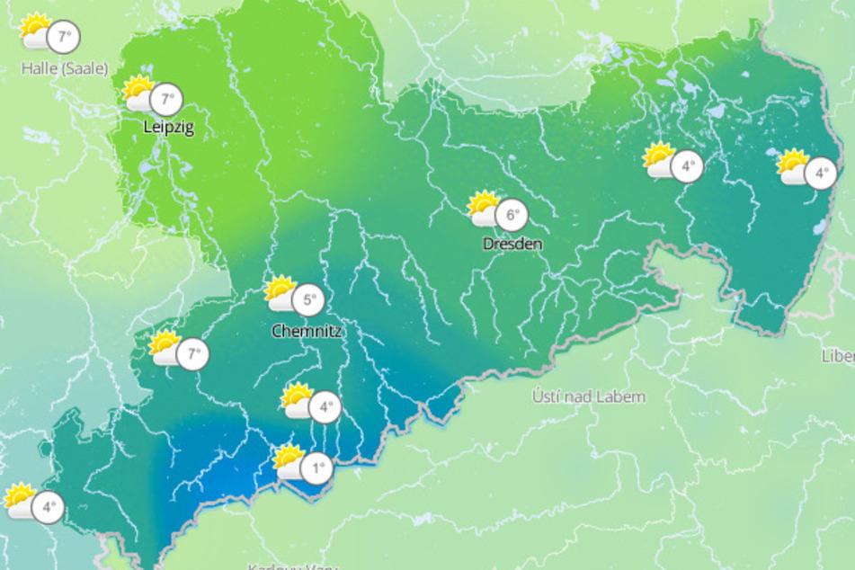 Unter anderem in Sachsen, aber auch in Sachsen-Anhalt und Thüringen, sollen die Temperaturen wieder sinken.