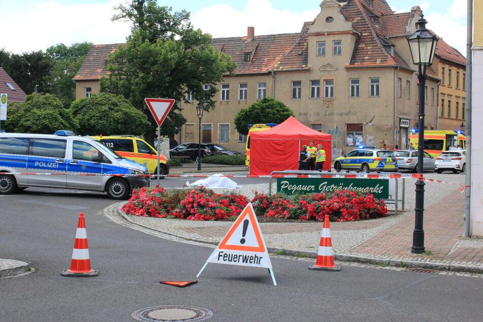 In der Nähe einer Bushaltestelle in Pegau kam es zu einem tödlichen Zusammenstoß.