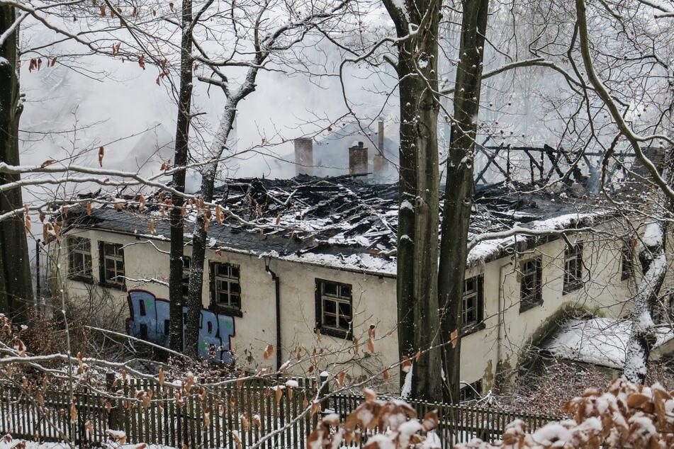 """Viel blieb nicht mehr übrig vom ehemaligen """"Russenclub"""": Das Gebäude wurde mittlerweile abgerissen."""