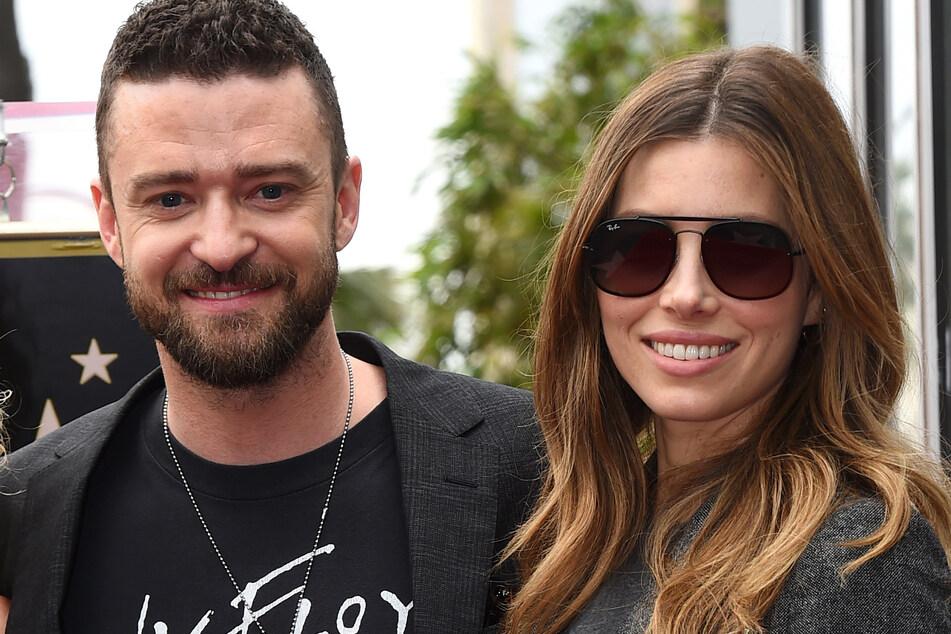 Justin Timberlake (40, l) und seine Frau Jessica Biel (38) sind seit acht Jahren miteinander verheiratet.