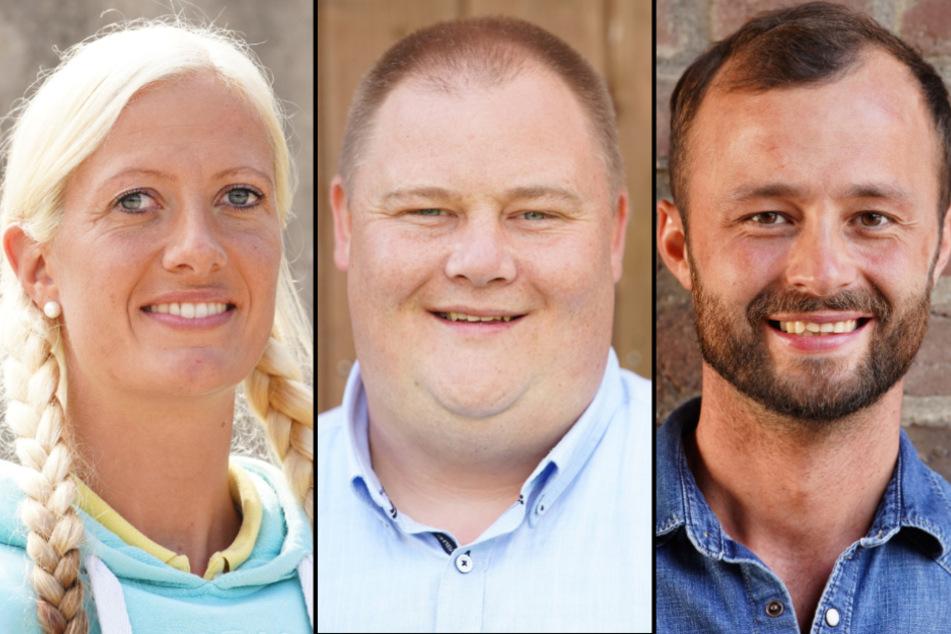 v.l.n.r.: Bio-Bäuerin Denise (32), Geflügelzüchter Leif (32) und Kartoffelbauer Peter (34). (Fotomontage)