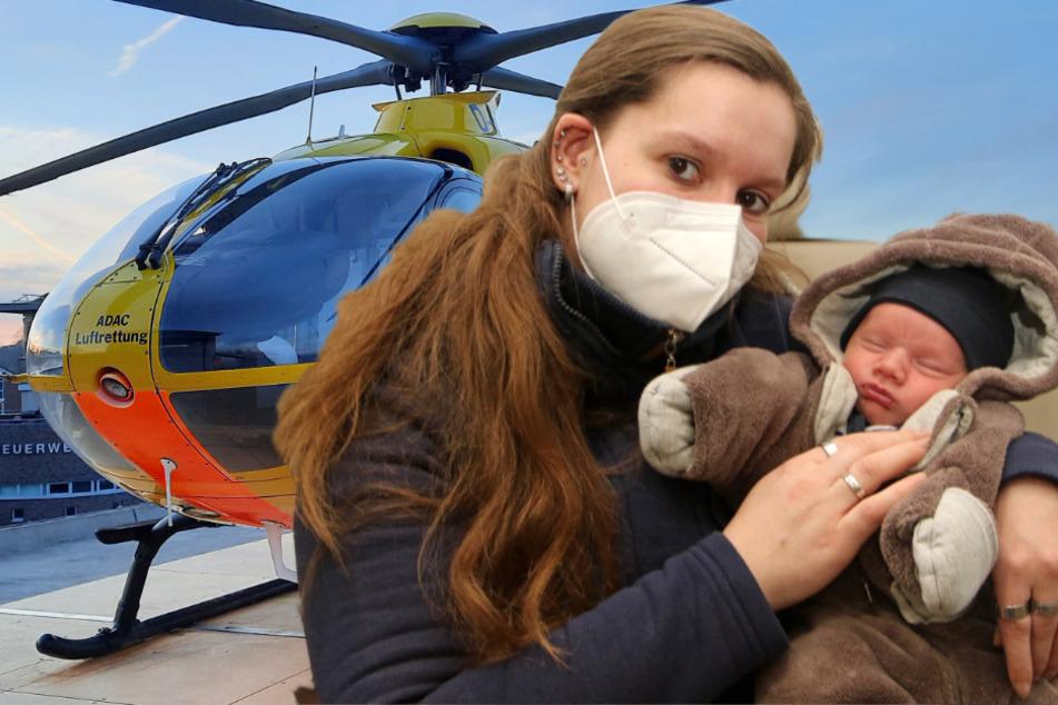 Auf dem Weg in die Klinik: Baby kommt noch im Rettungshubschrauber zur Welt!