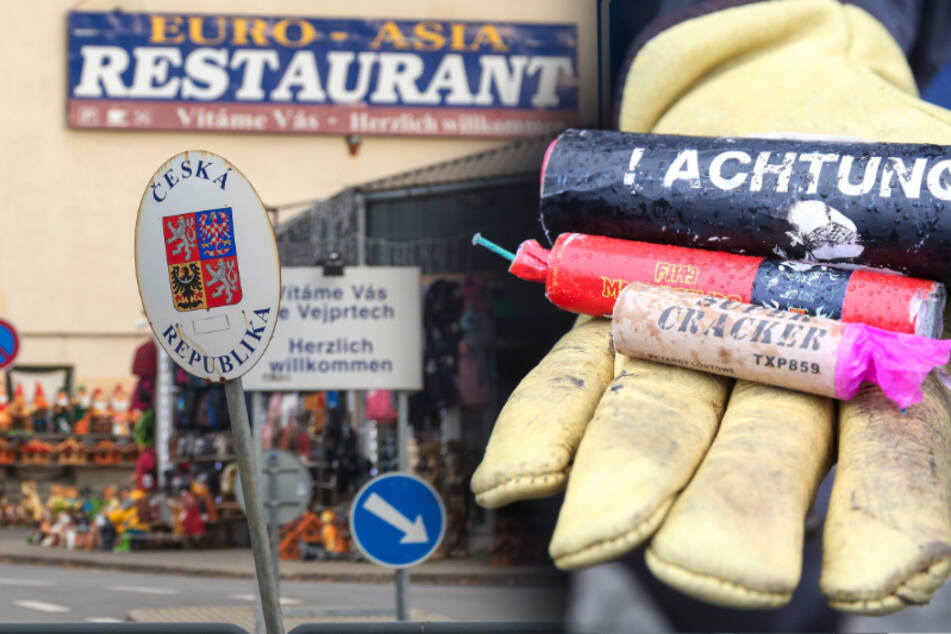 Verbotene Böller und Raketen gekauft: Polizei erwischt drei Männer im Erzgebirge