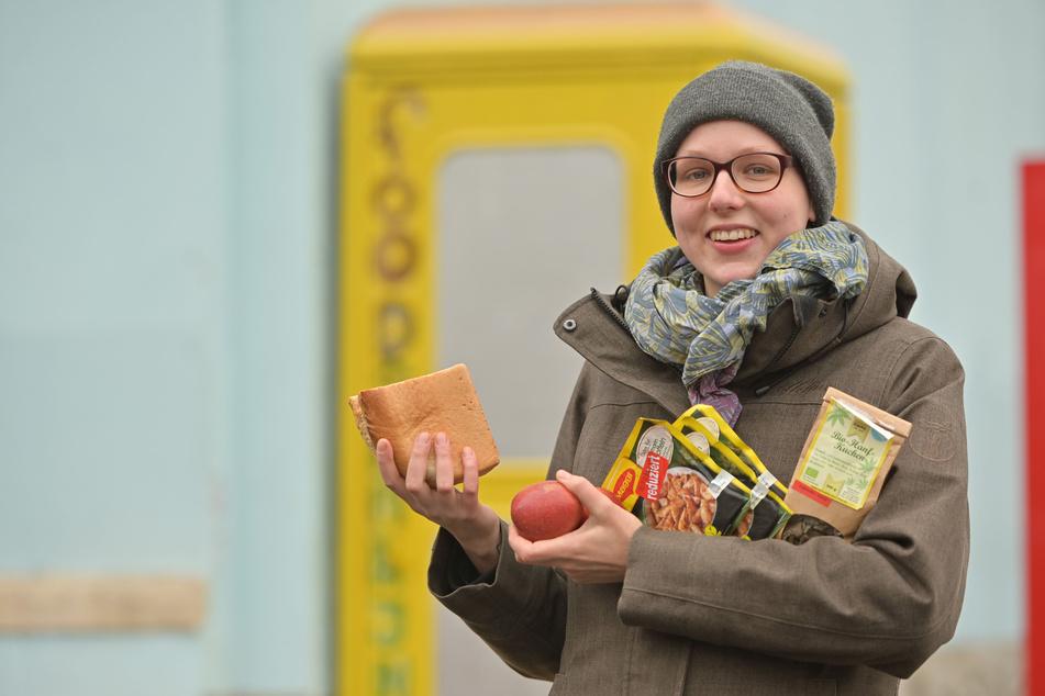 Maren Troschke (25) gehört zu den Initiatoren des Foodsharing in Chemnitz. An fünf Orten können Lebensmittel geteilt werden.