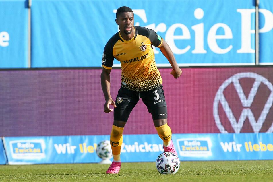 Leroy Kwadwo (24) kam für Dynamo Dresden zwölfmal zum Einsatz und trug seinen Teil zum Aufstieg in die 2. Bundesliga bei.