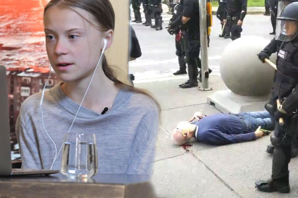 Greta Thunberg retweetet verstörendes Video und stellt wichtige Frage