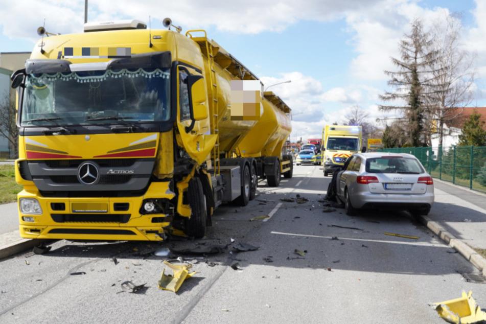 Auf der Löbauer Straße gab es Montagmittag einen Unfall.
