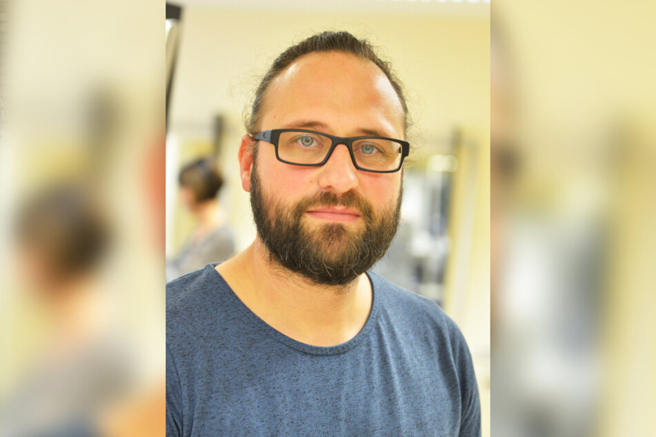 Jörn Lüdecke (39) ist Obermeister der Friseurinnung Chemnitz.