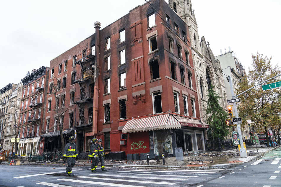 According to the FDNY, the fire started in the vacant adjacent building.