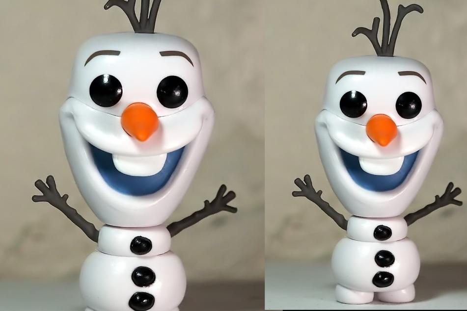 Schneemann Olaf sucht seinen Besitzer.