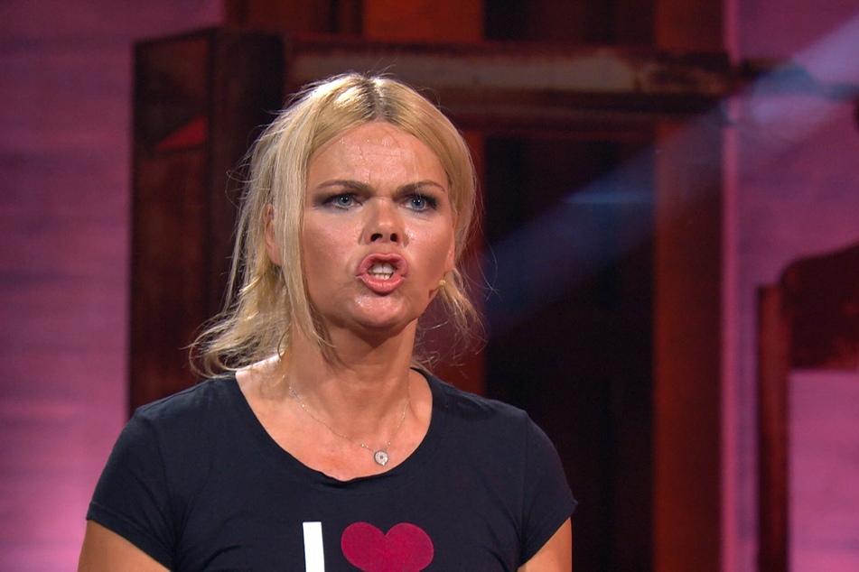 """Diana Herold (46) hat sich im Halbfinale wieder einmal nicht im Griff und brüllt ihren Michael (48) mit """"Arschloch"""" an."""