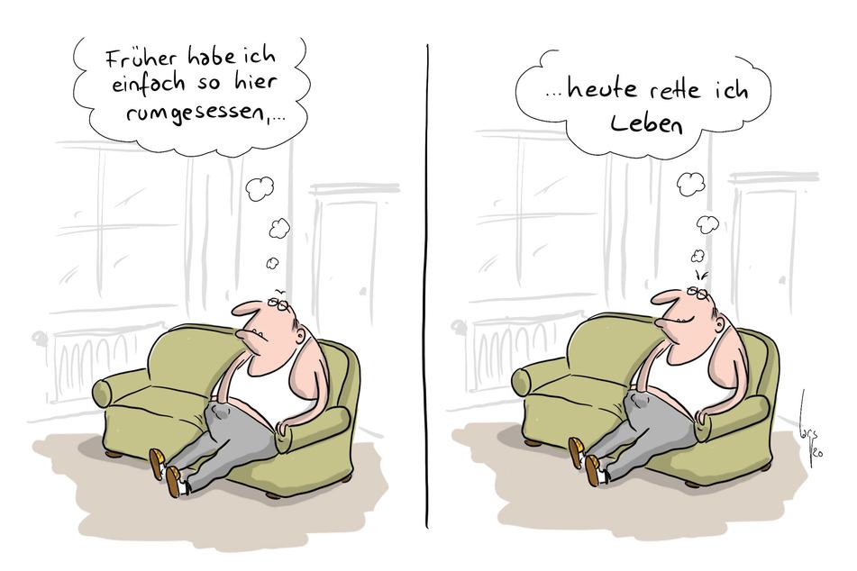 Mario Lars gewinnt mit dieser Karikatur bei der Rückblende 2020 den 1. Preis Karikatur (Der Karikaturenpreis der deutschen Zeitungen).