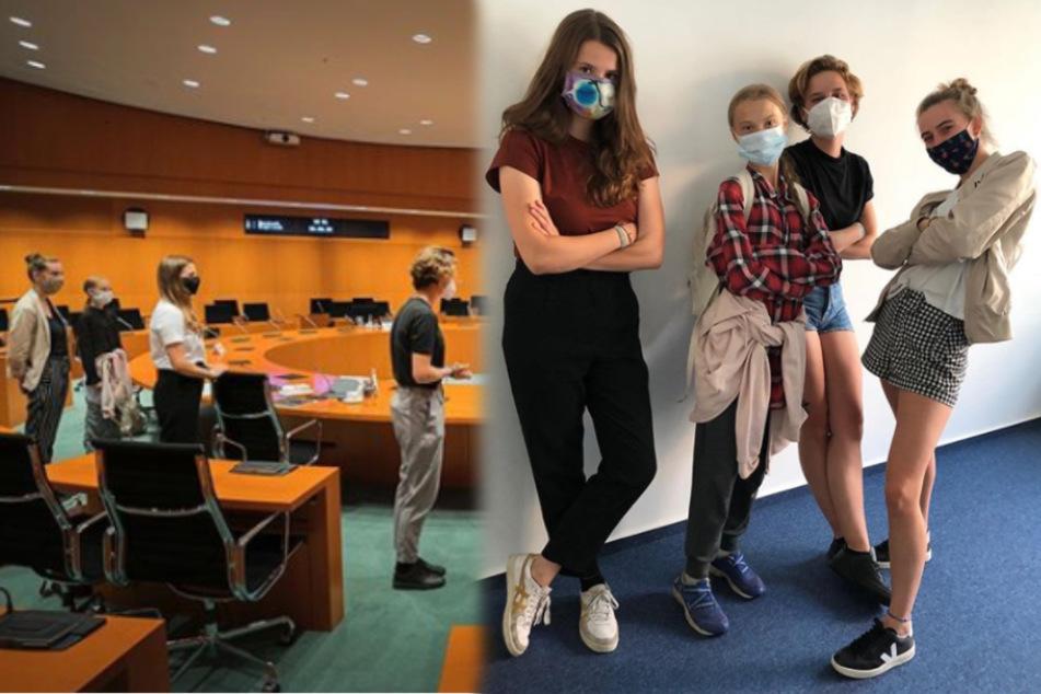 Greta Thunberg: Klima-Mädels verabschieden sich mit gemeinsamem Foto
