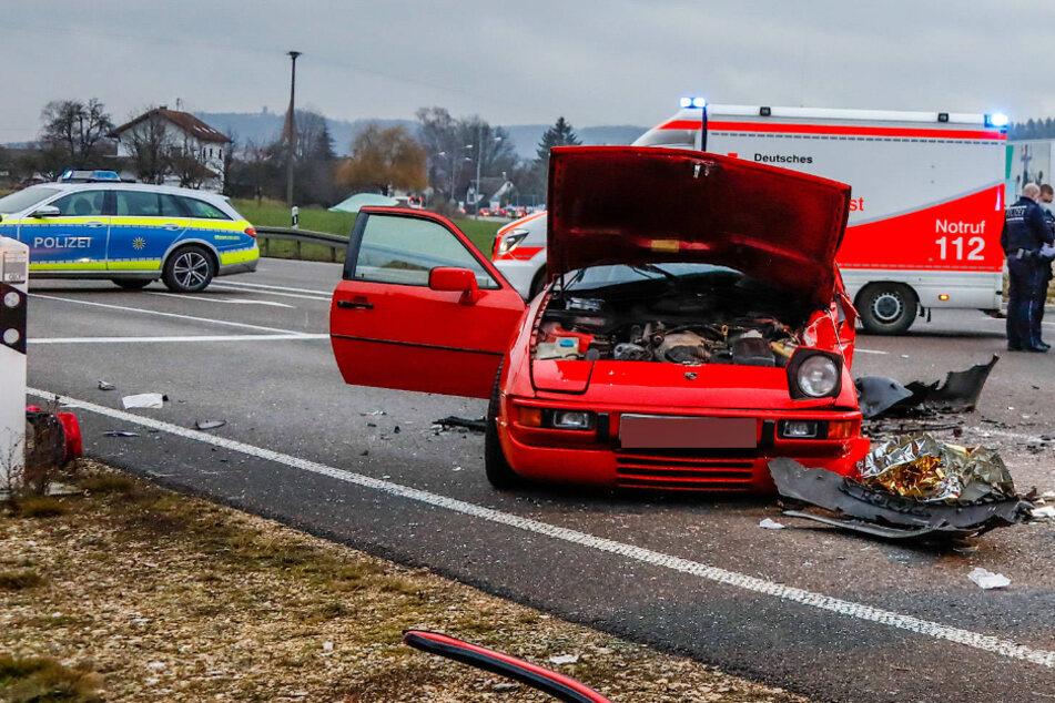 Unfall mit Porsche: B10 voll gesperrt!