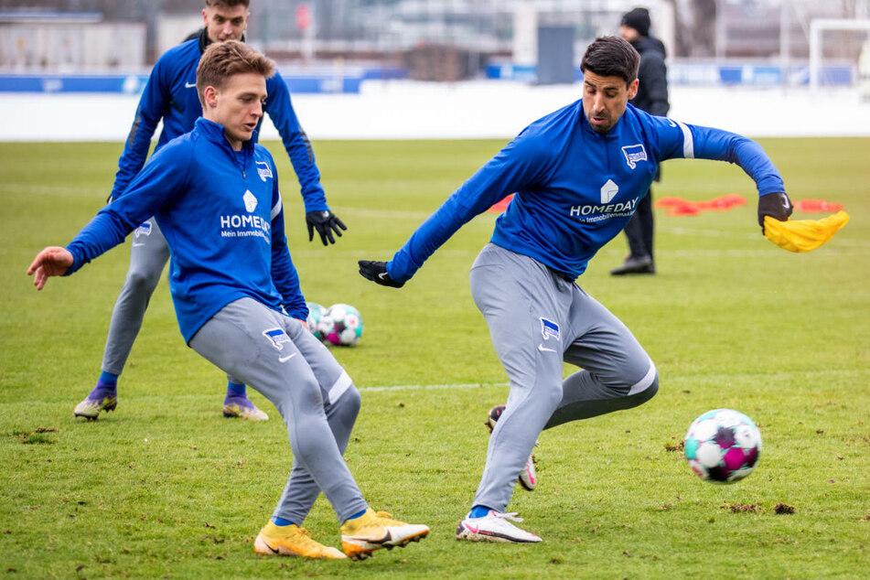 Santiago Ascacibar (23, l.) und Sami Khedira (33) haben in der Vergangenheit beide für den VfB Stuttgart gespielt.