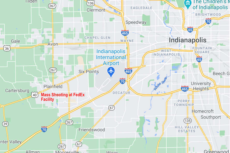 The FedEx Ground facility is on the city's southwest side near Indianapolis International Airport.