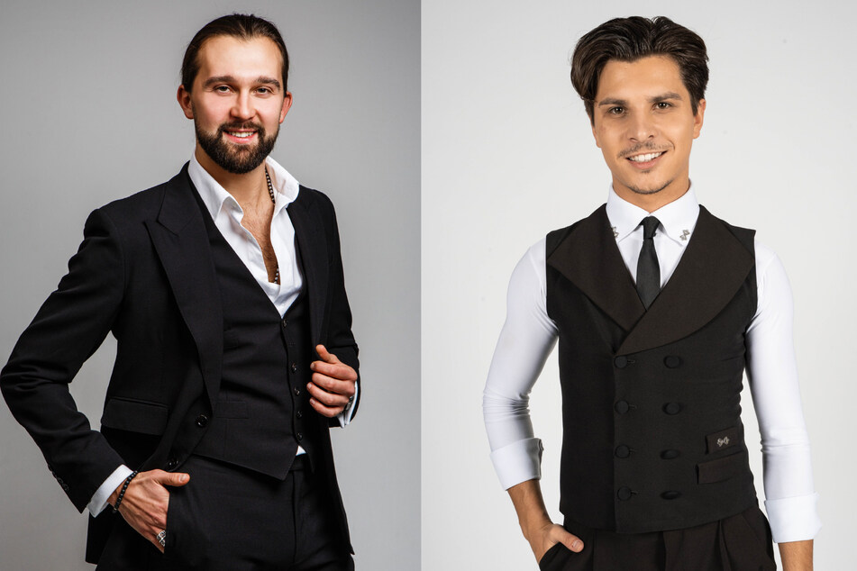 """Auch die beiden Profitänzer Pasha Zvychaynyy (29, l.) und Alexandru Ionel (26) geben kommende Staffel ihr Debüt bei """"Let's Dance""""."""