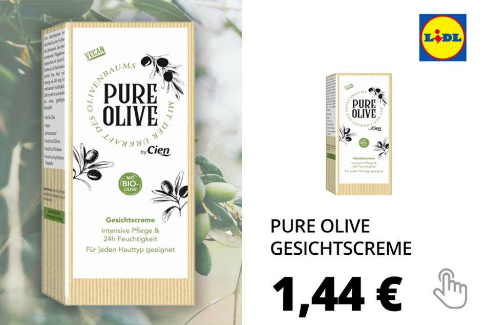 Pure Olive Kosmetikartikel - Gesichtscreme
