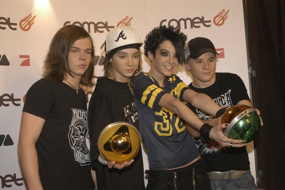 """2005: Georg, Tom, Bill und Gustav (v.l.n.r.) freuen sich über den """"Comet""""-Preis. (Archivbild)"""