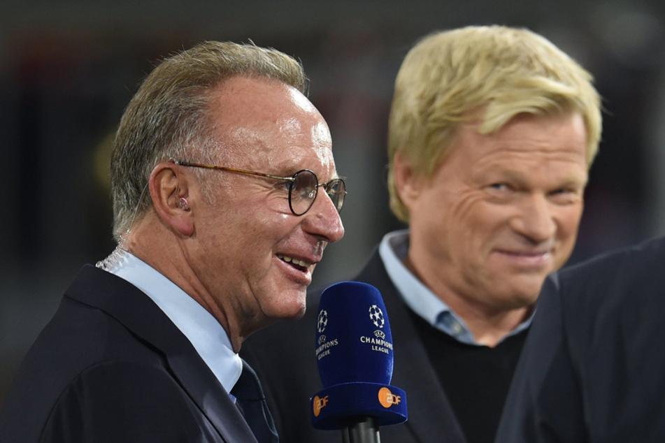 Die Bayern-Bosse Karl-Heinz Rummenigge (l.) und Oliver Kahn. (Archivbild)