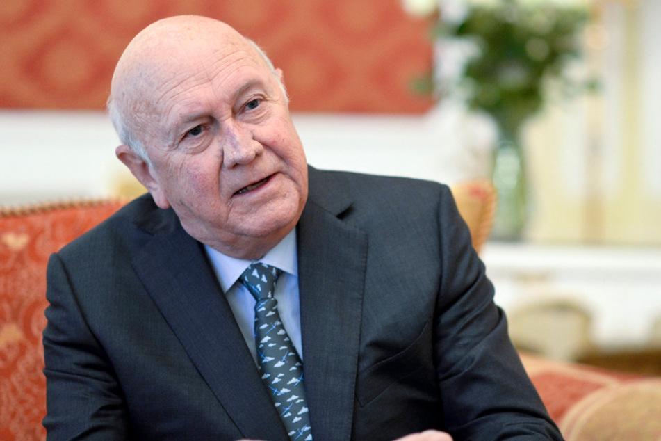 Der südafrikanische Präsident und Friedensnobelpreisträger Frederik Willem de Klerk.