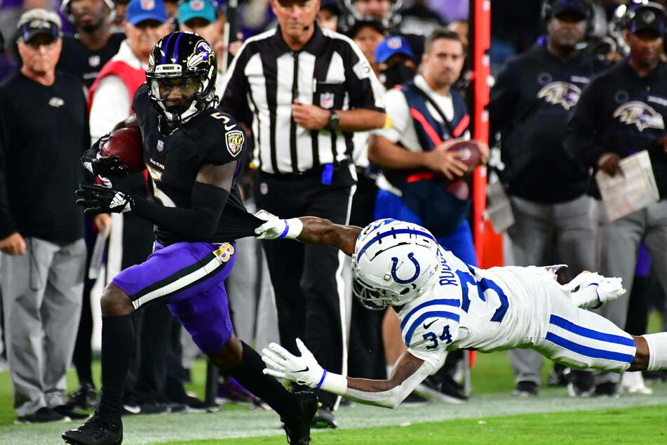 Ravens wide receiver Marquise Brown caught the game-winning touchdown in Baltimore's win over Indianapolis.