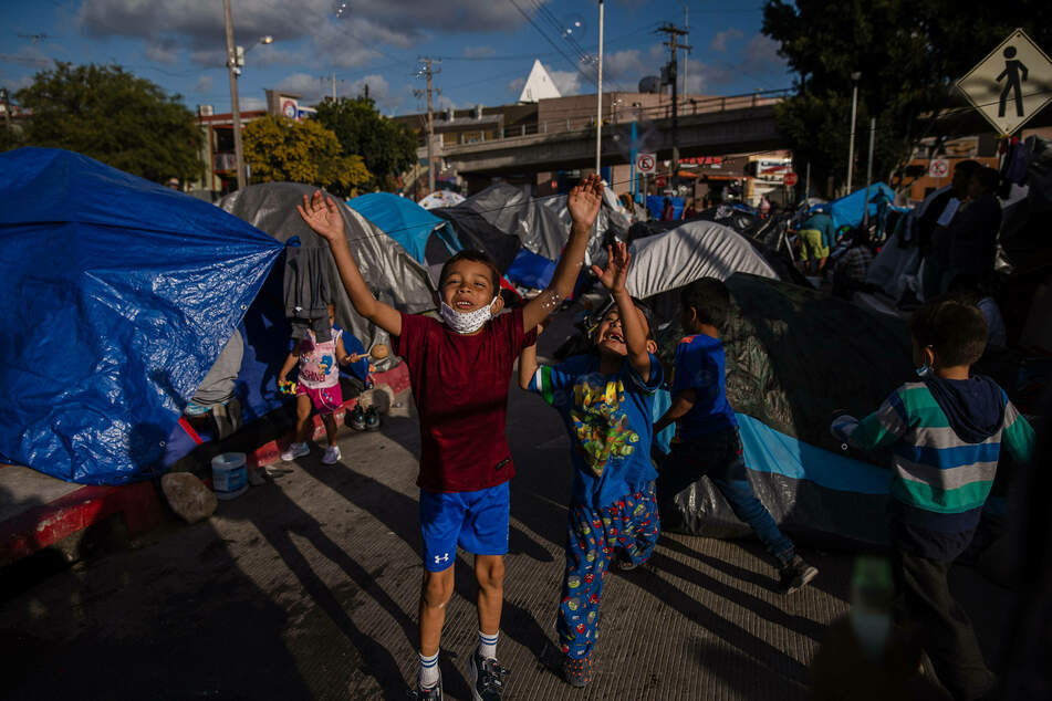Hundreds of asylum seekers have set up tents near the port of entry in hopes of being able to seek asylum in the United States