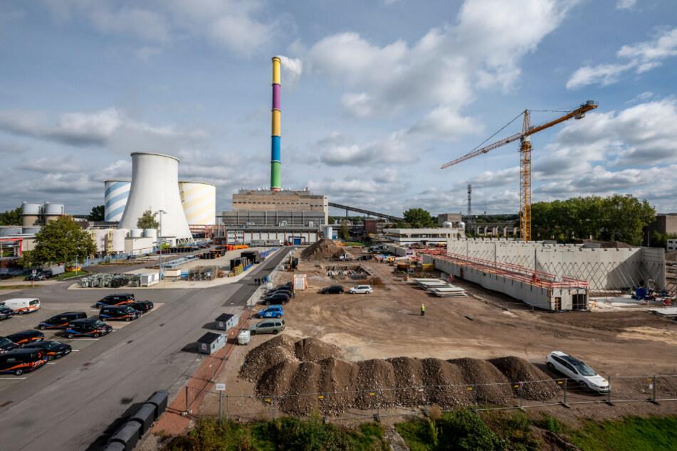Grundsteinlegung: Eins Energie baut an der Blankenburgstraße ein Gasmotoren-Heizkraftwerk.