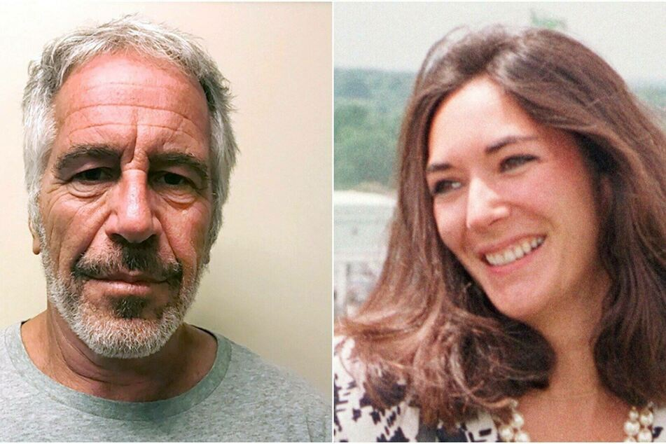 Epstein (l.) and Maxwell are accused of raping Samantha with a sex toy.