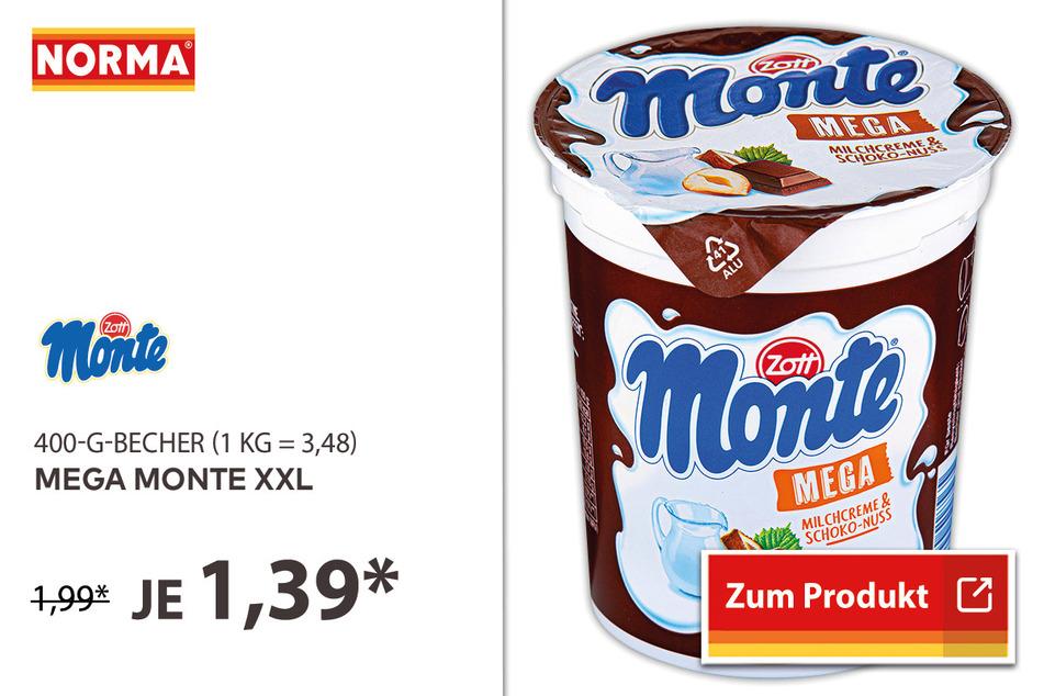 Mega Monte XXL im 400g-Becher für 1,39 Euro