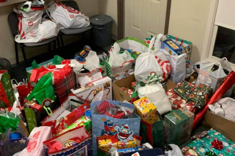 People donated mountains of gifts for little Tony.